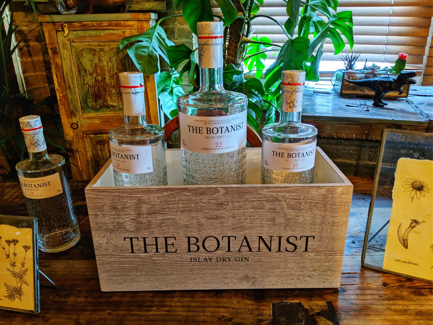 Botanist Gin bottle on table