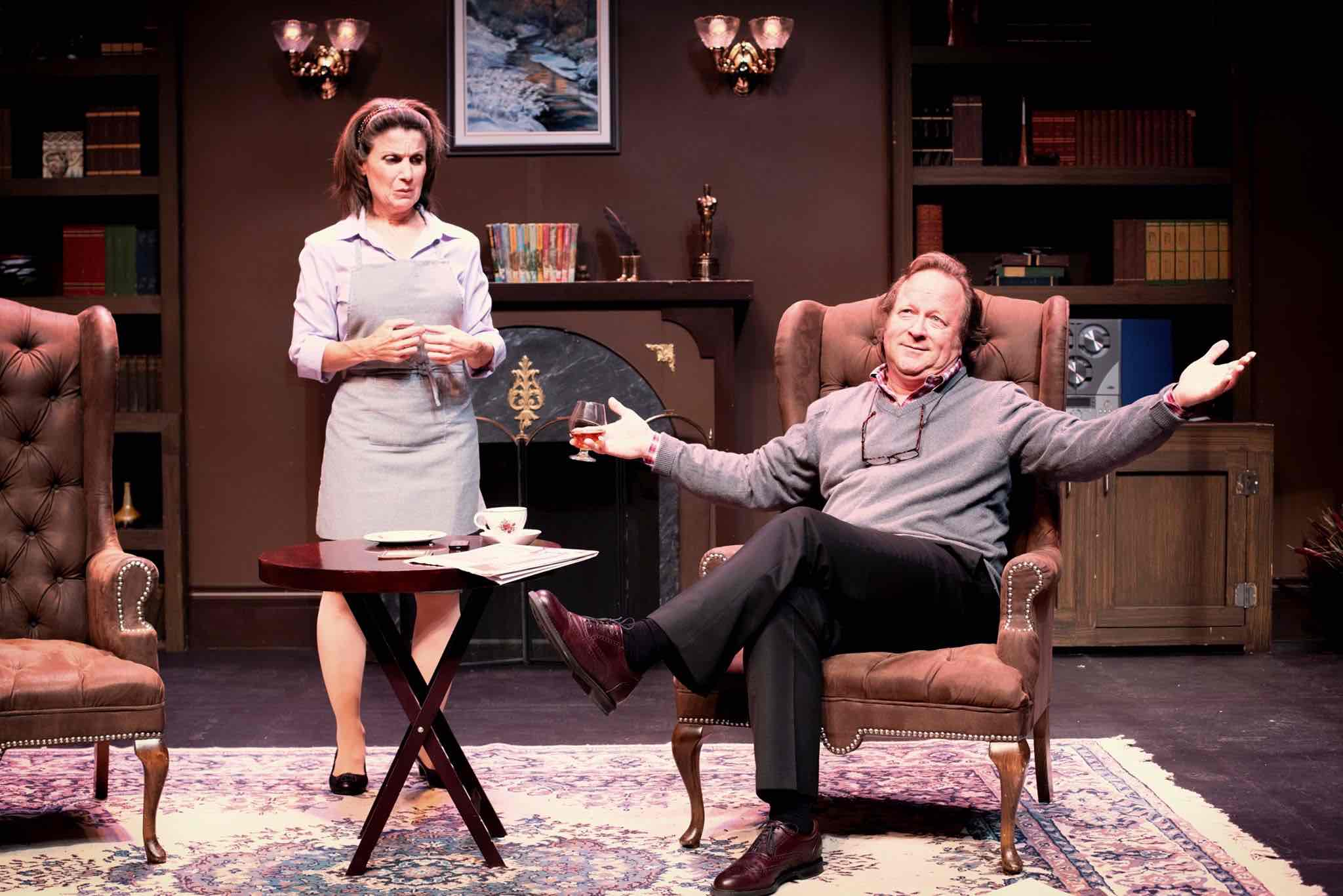 Actors performing On A First Name Basis at Orillia Opera House